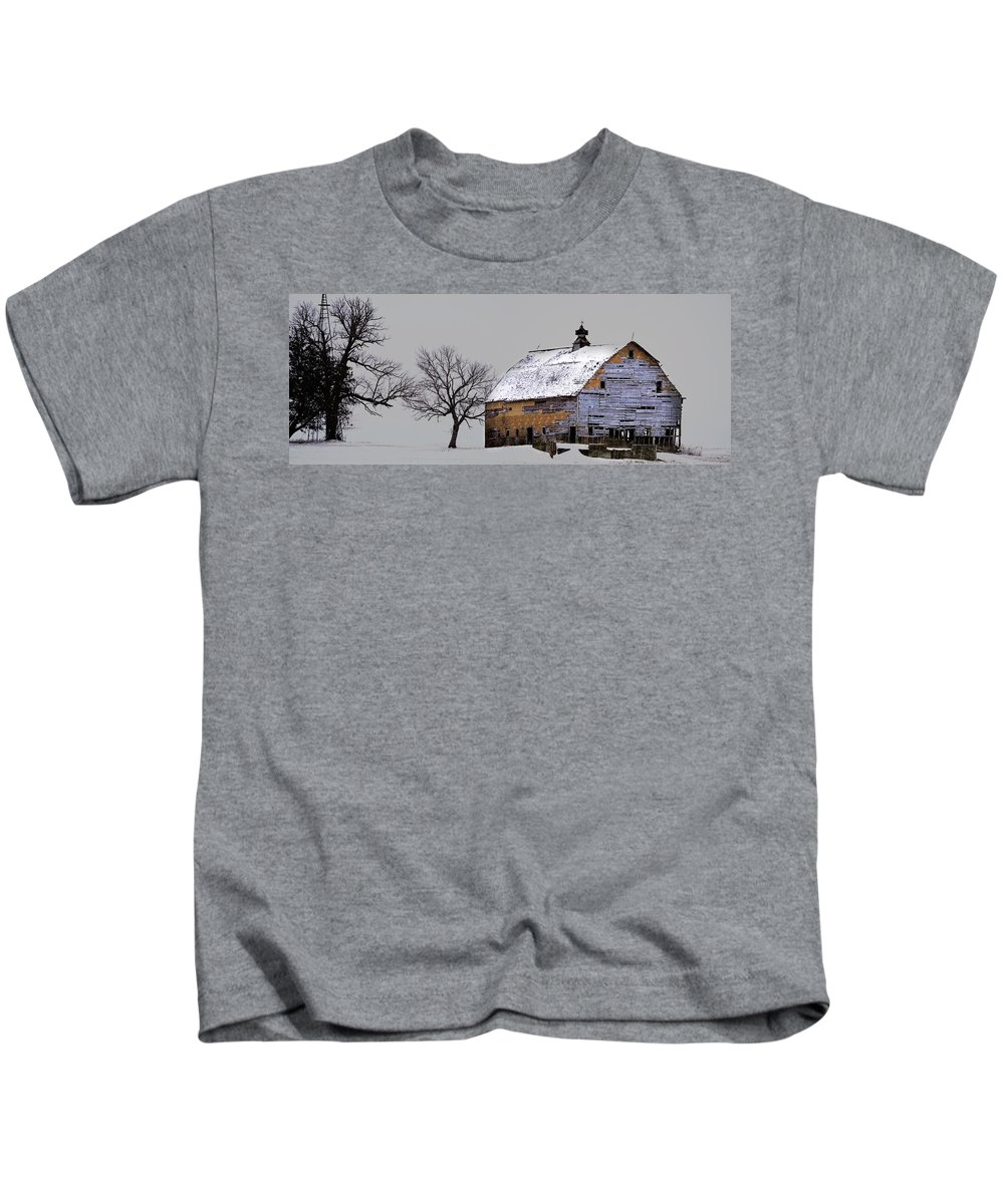 Rustic Kids T-Shirt featuring the photograph Eroding Panorama by Bonfire Photography
