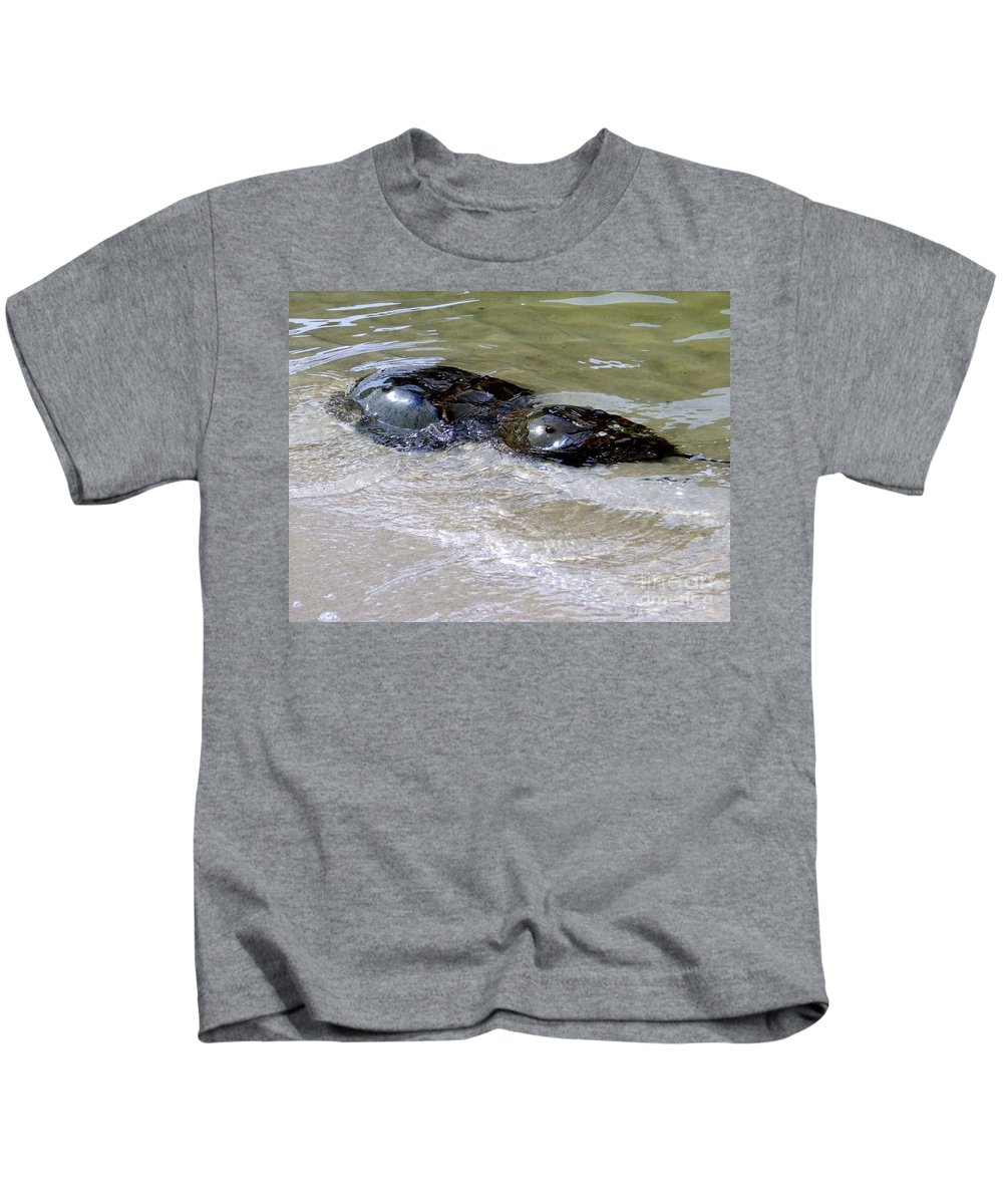 Water Kids T-Shirt featuring the photograph Eye See You by Ed Weidman