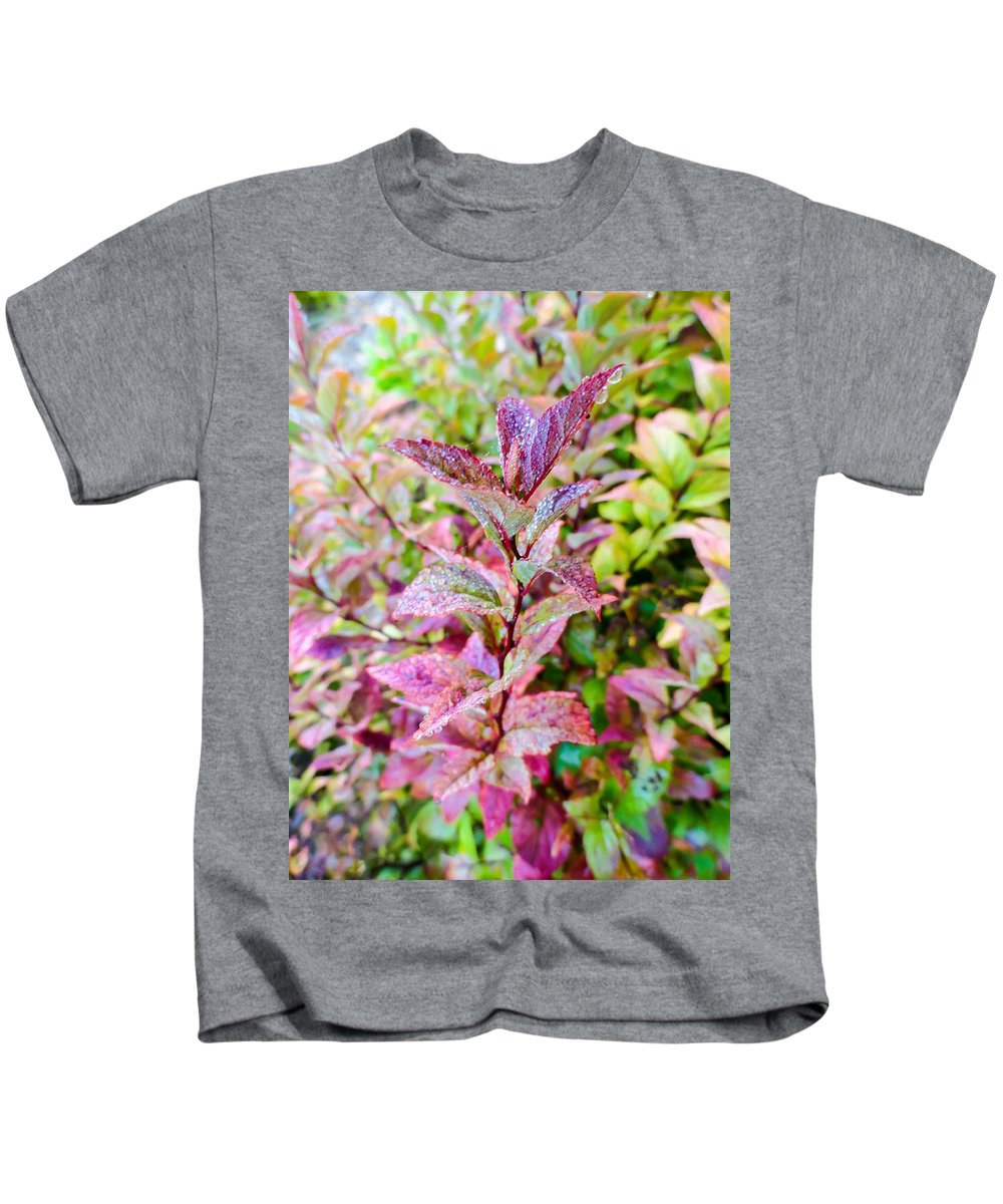 Fall Colors On A Foggy Day Kids T-Shirt featuring the photograph Fall Colors On A Foggy Day 2 by Cynthia Woods