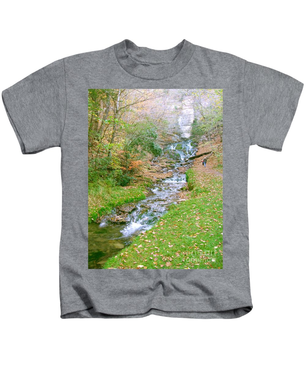 Springs Kids T-Shirt featuring the photograph Fall Springs by Minding My Visions by Adri and Ray