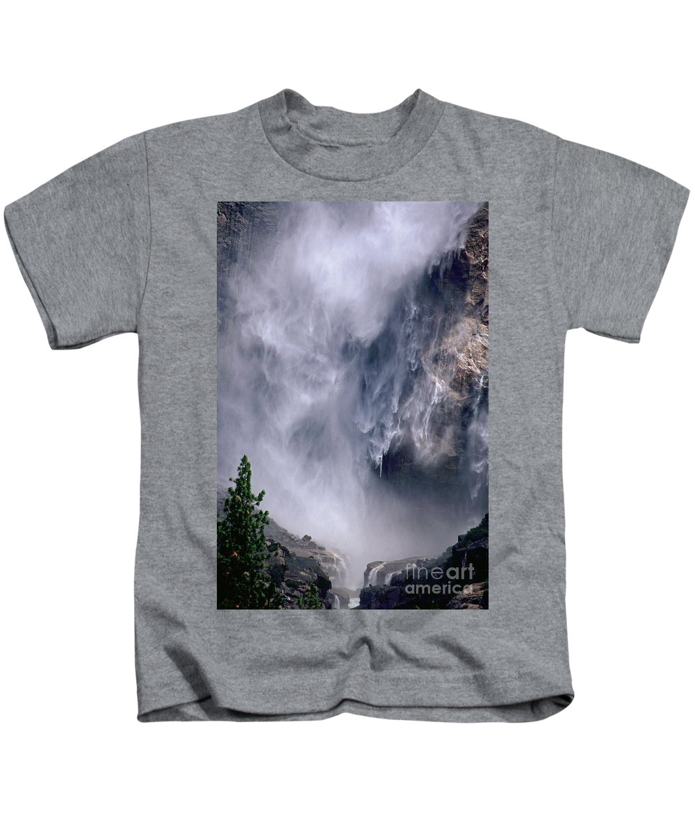 Waterfall Kids T-Shirt featuring the photograph Falling Water by Kathy McClure