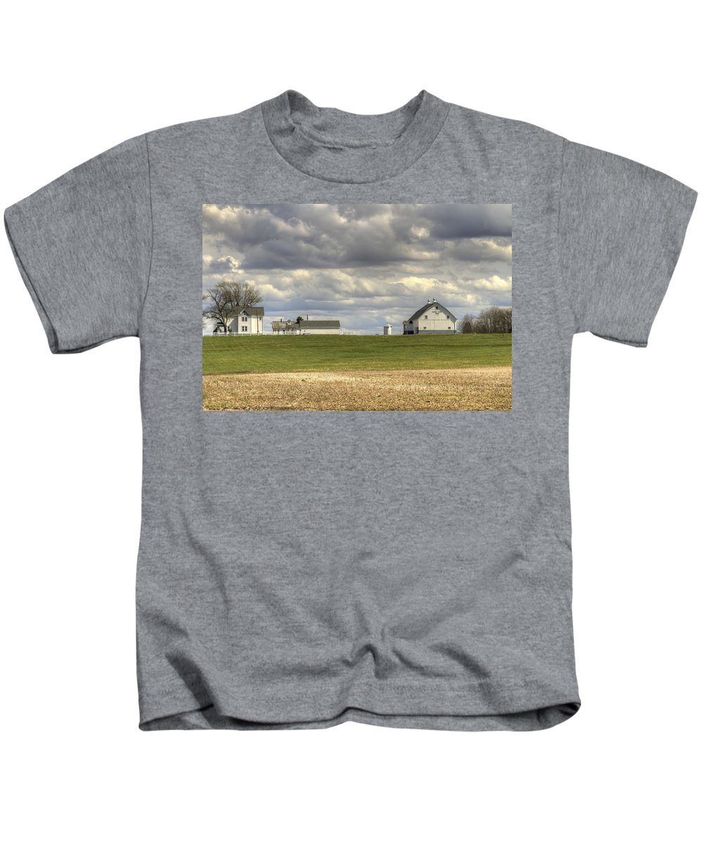 Agriculture Kids T-Shirt featuring the photograph Farm Country by Jack R Perry