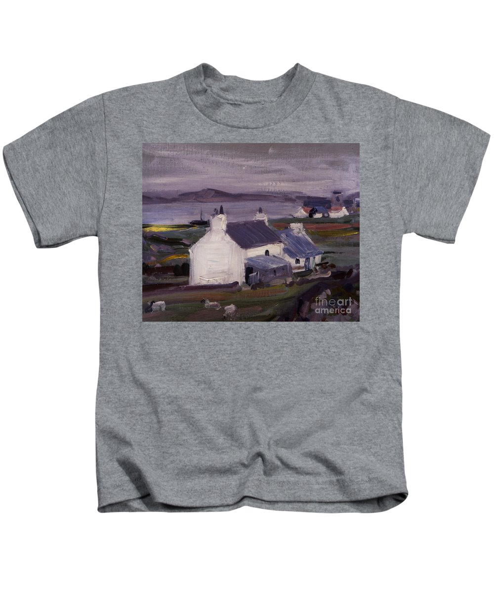 Cadell Kids T-Shirt featuring the painting Farmsteading by Francis Campbell Boileau Cadell