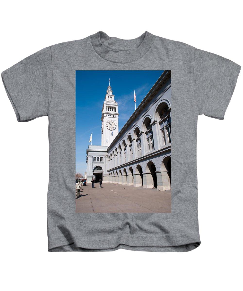 San Kids T-Shirt featuring the photograph Ferry Building by Bradley Bennett