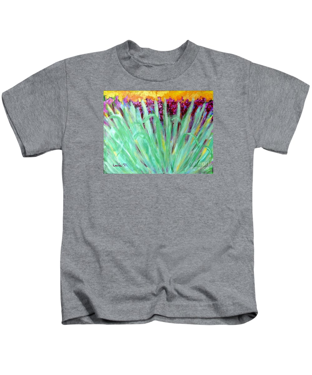 Abstract Kids T-Shirt featuring the painting Festoon by Laurie Morgan