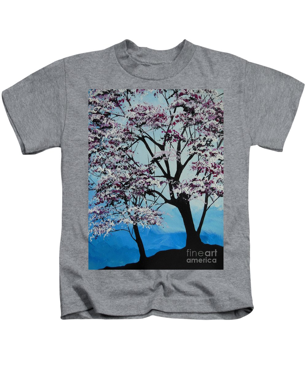 Spring Kids T-Shirt featuring the painting Finally Spring by Dan Whittemore