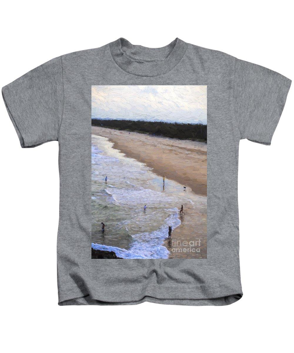 Australia Kids T-Shirt featuring the photograph Fingal Beach by Sheila Smart Fine Art Photography