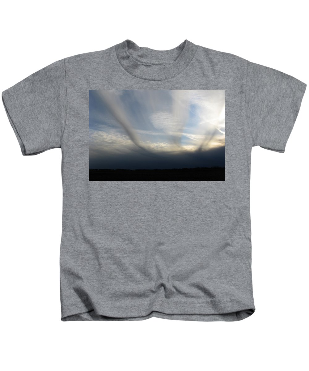 Clouds Kids T-Shirt featuring the photograph Finger Clouds by Dan McCafferty