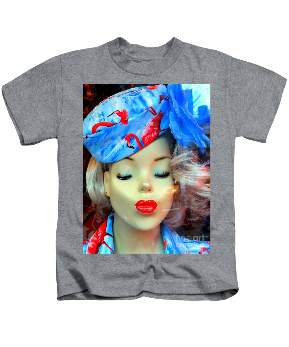 Mannequin Kids T-Shirt featuring the photograph Flamingo Couture by Ed Weidman