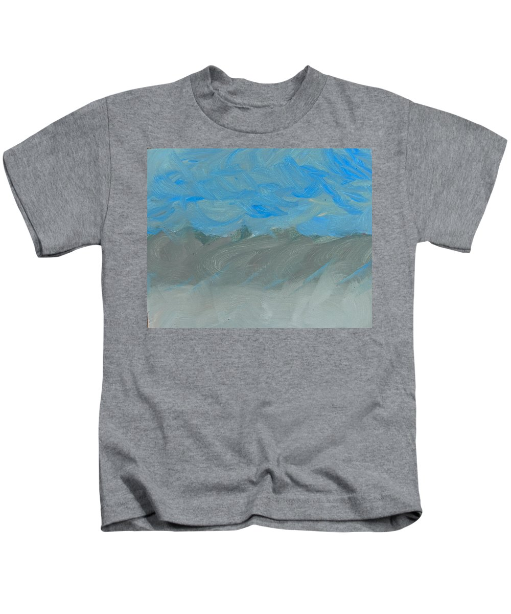 Abstract Kids T-Shirt featuring the painting Flooding At Lone Pine by Lenore Senior