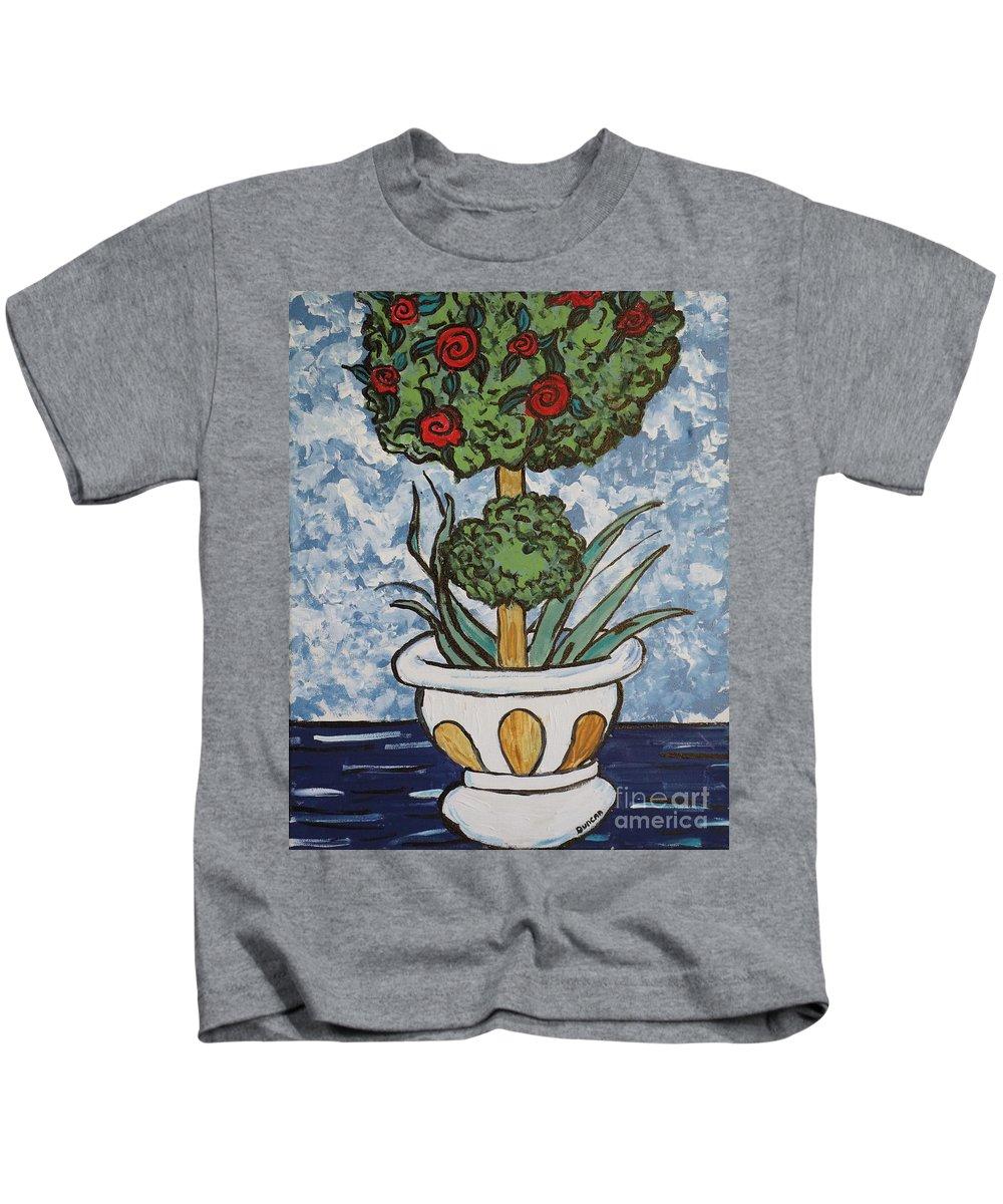Van Gogh Kids T-Shirt featuring the painting Flowers In Vase by Stefan Duncan