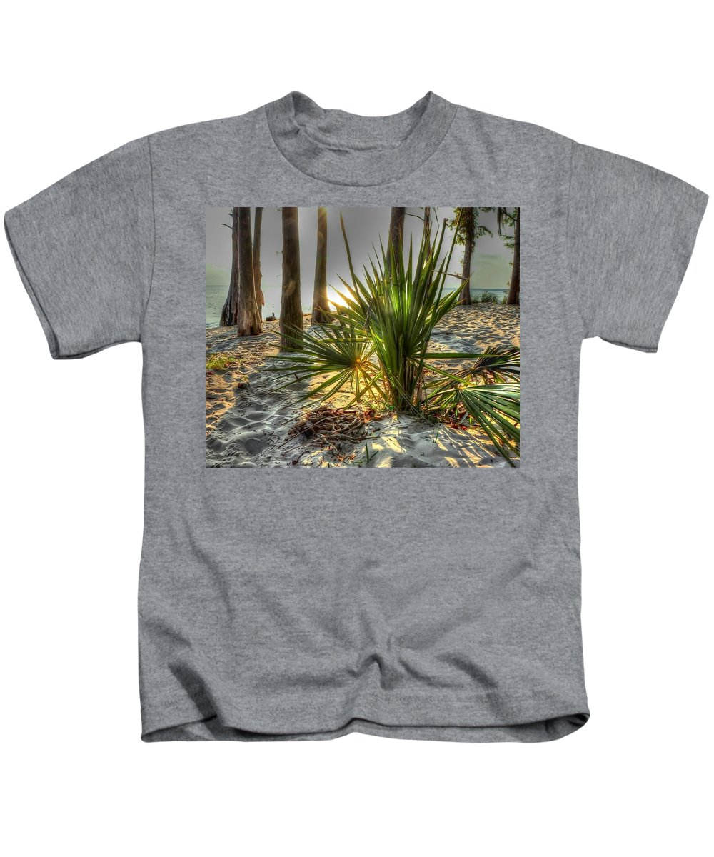Park Kids T-Shirt featuring the photograph Fontainebleau Shore by Charlotte Schafer