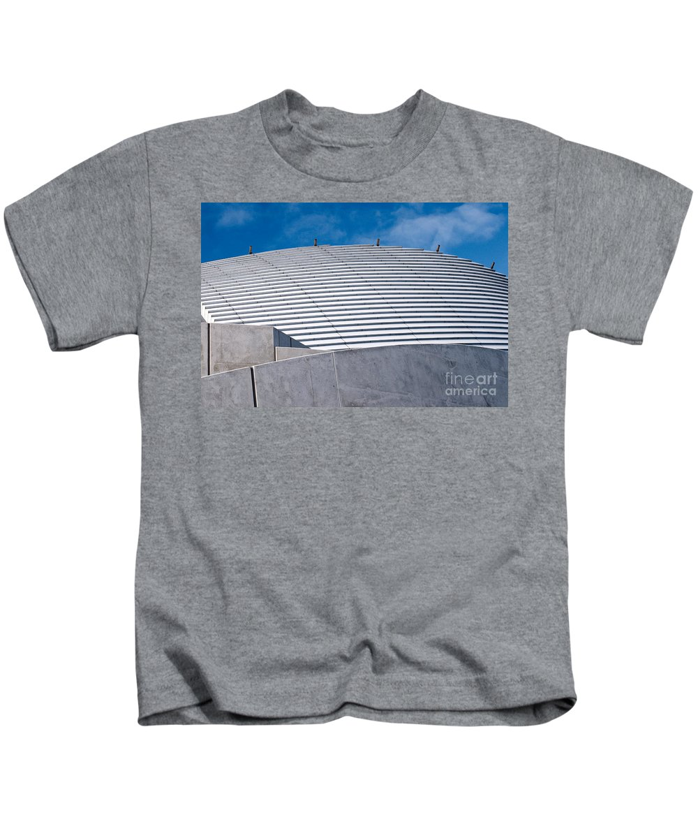 Fremantle Kids T-Shirt featuring the photograph Fremantle Maritime Museum Roof 02 by Rick Piper Photography