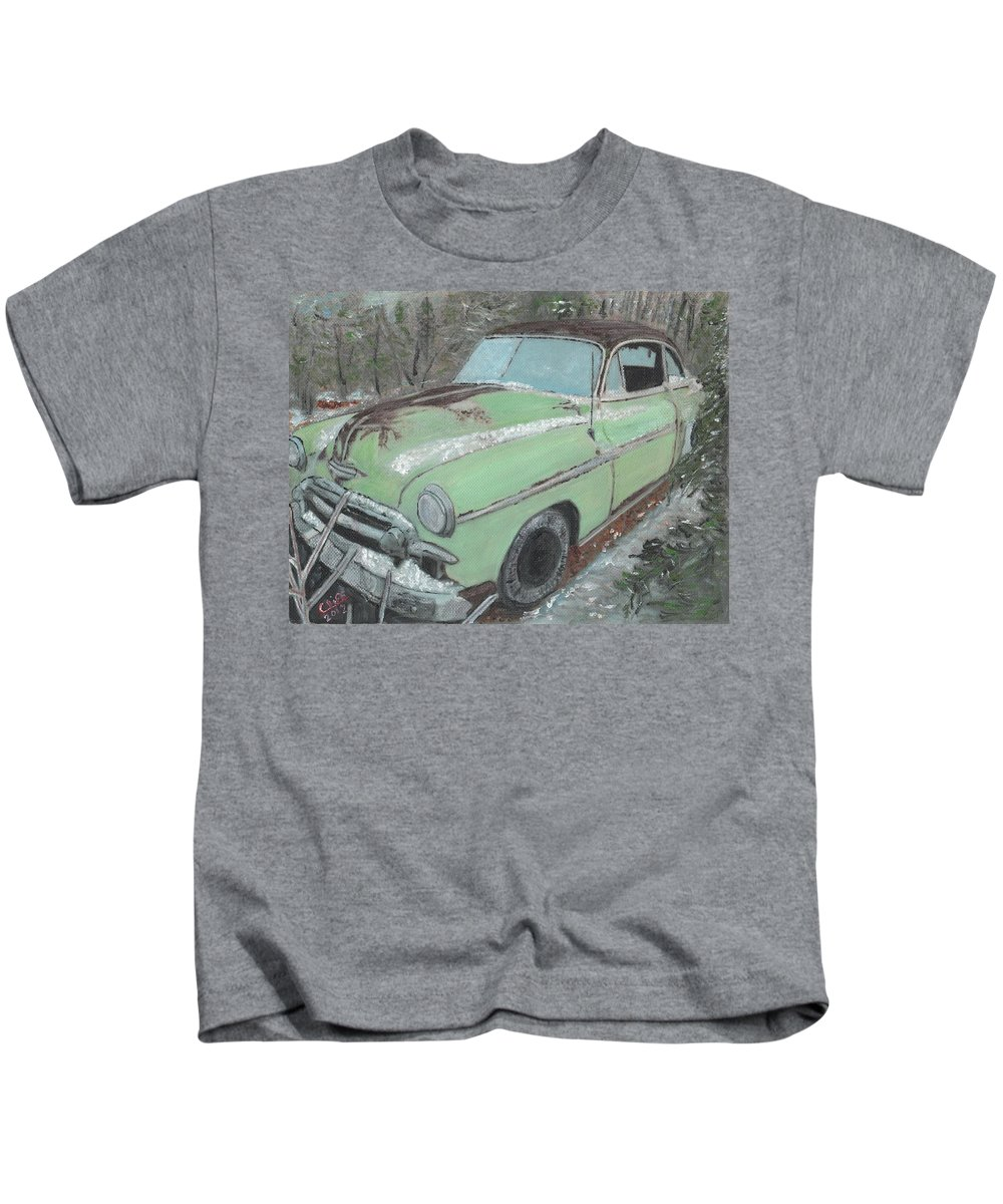 1950s Kids T-Shirt featuring the painting Friendship by Cliff Wilson