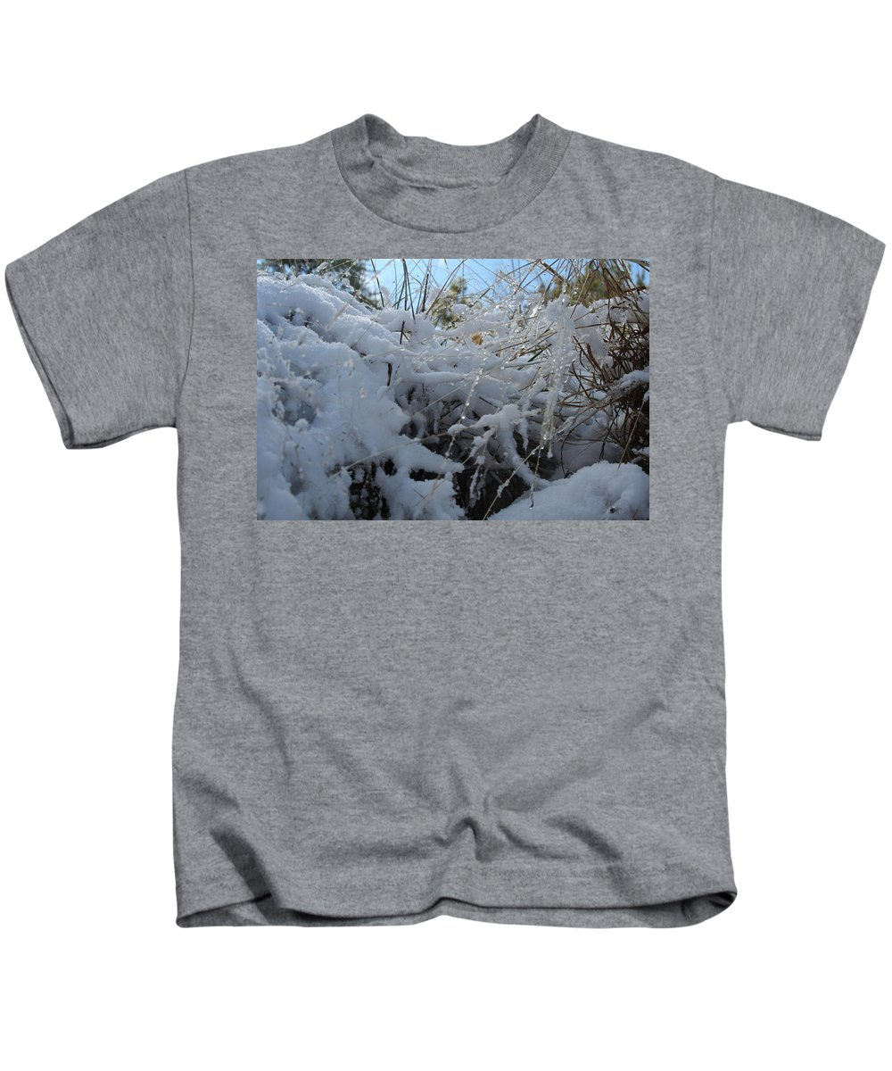 Snow Kids T-Shirt featuring the photograph Frost Grass by David S Reynolds