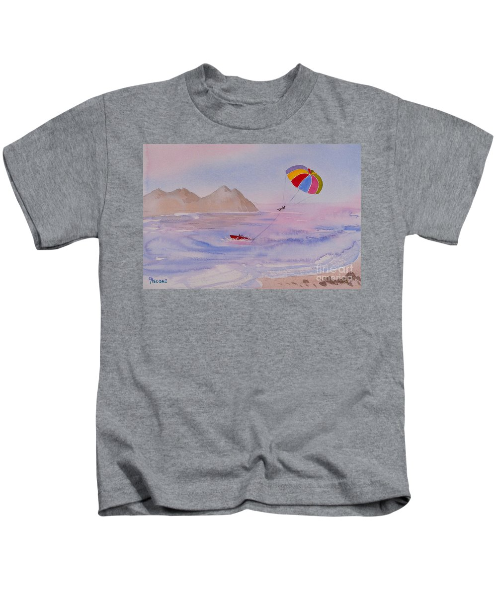 Fun Kids T-Shirt featuring the painting Fun In Mexico by Teresa Ascone