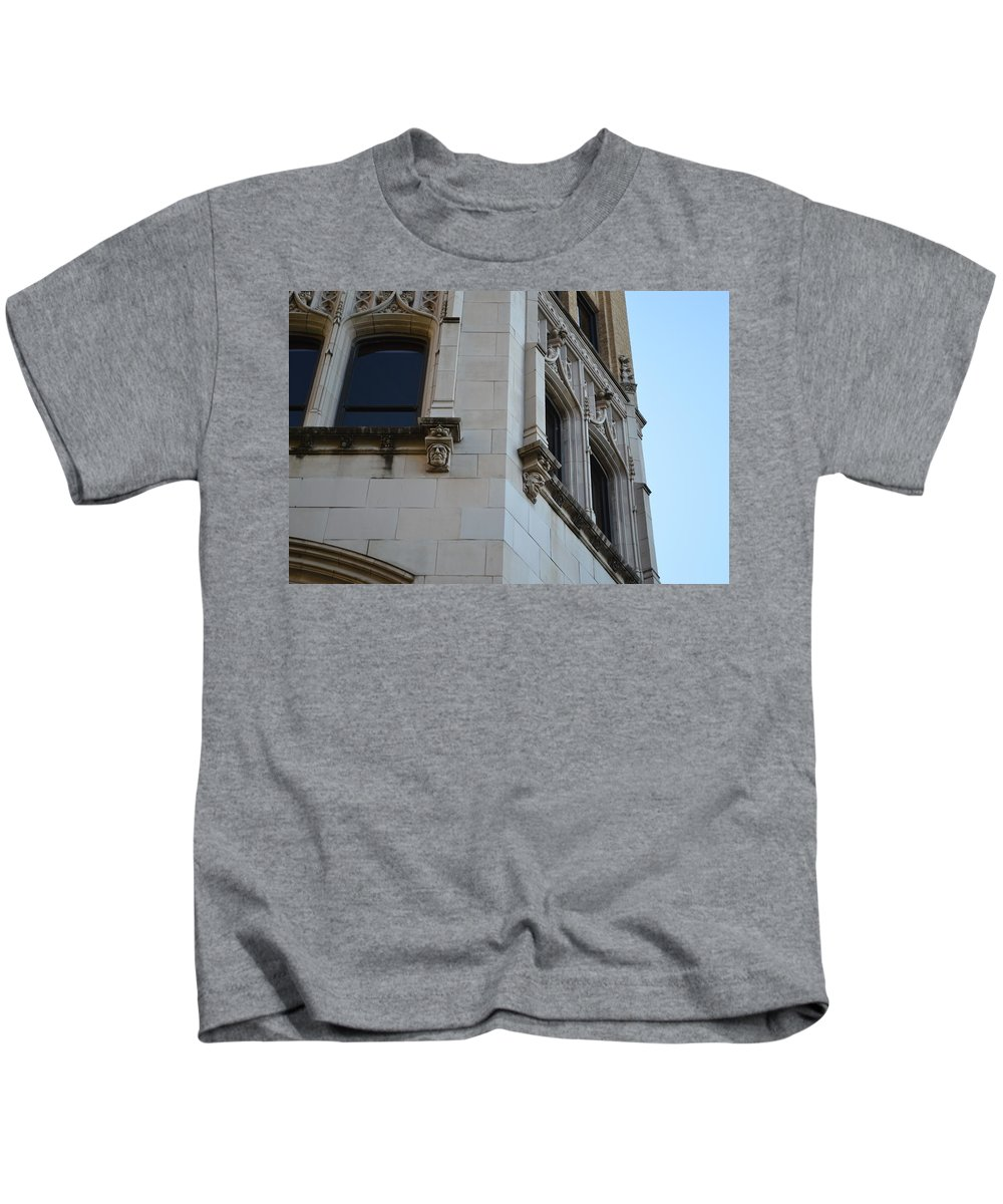Architecture Kids T-Shirt featuring the photograph Gargoyles by Shawn Marlow