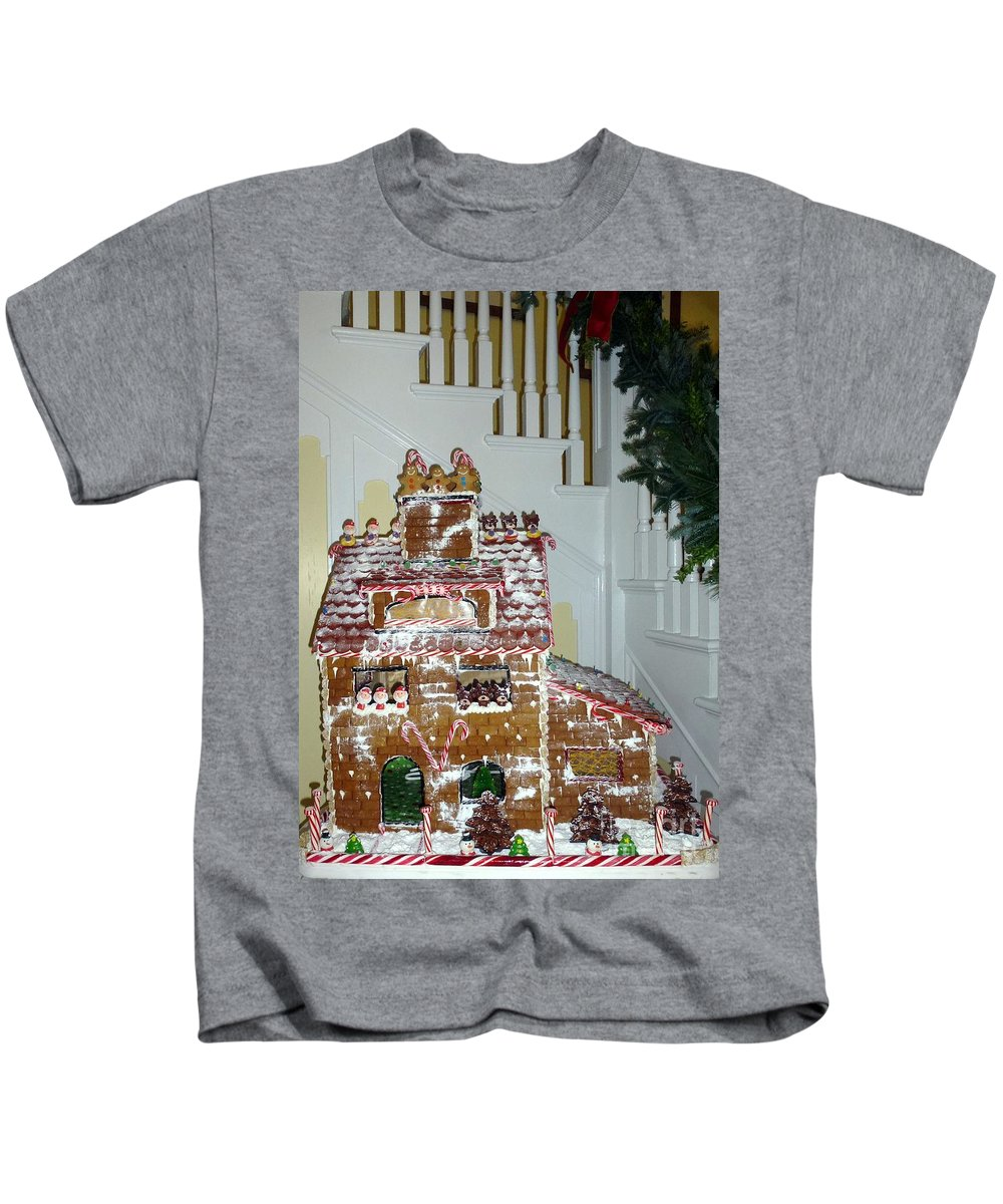 Gingerbread Kids T-Shirt featuring the photograph Gasparilla Gingerbread by Barbie Corbett-Newmin