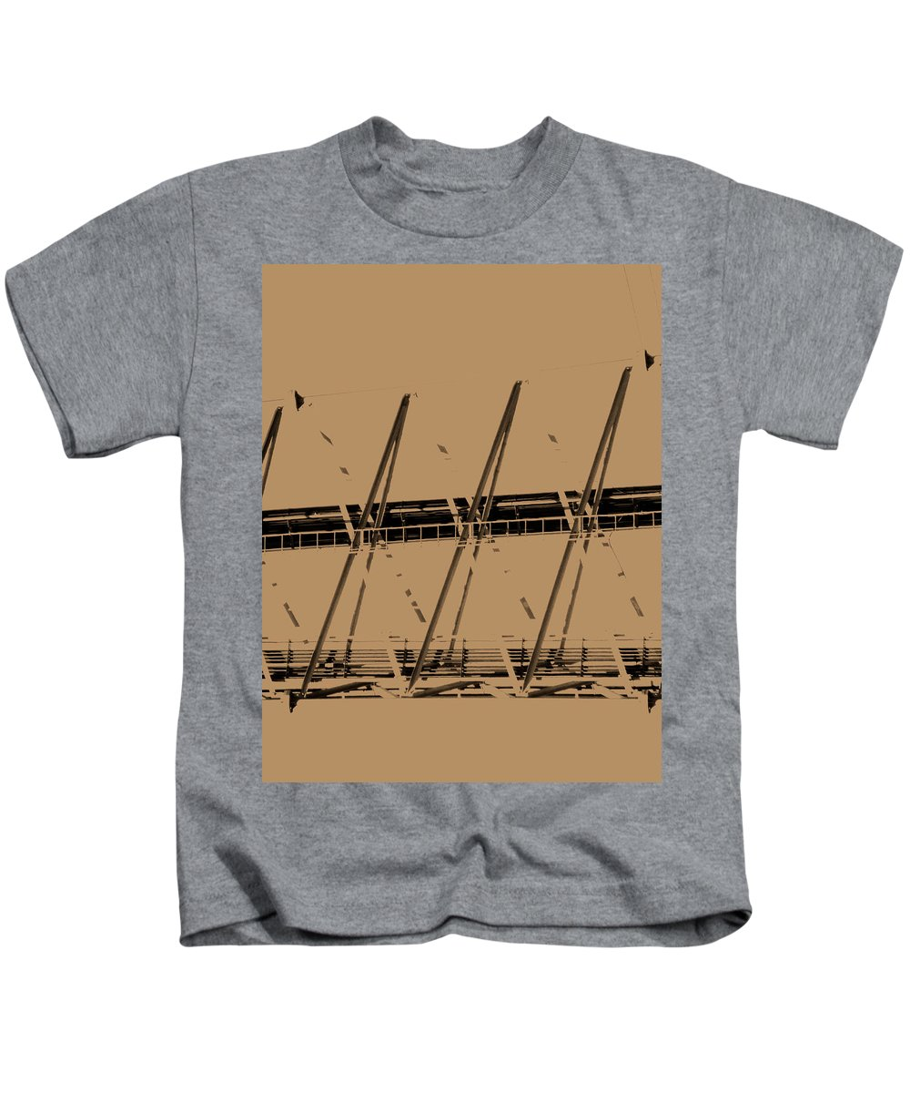 Abstract Kids T-Shirt featuring the photograph Giant Erector Set by Lenore Senior