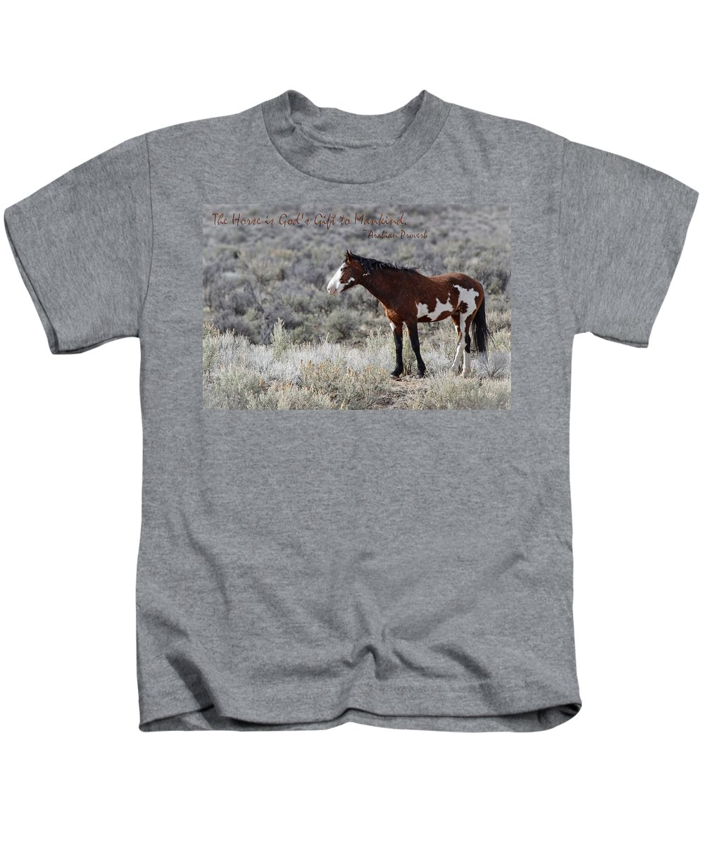 Gods Gift Kids T-Shirt featuring the photograph God's Gift by Wes and Dotty Weber