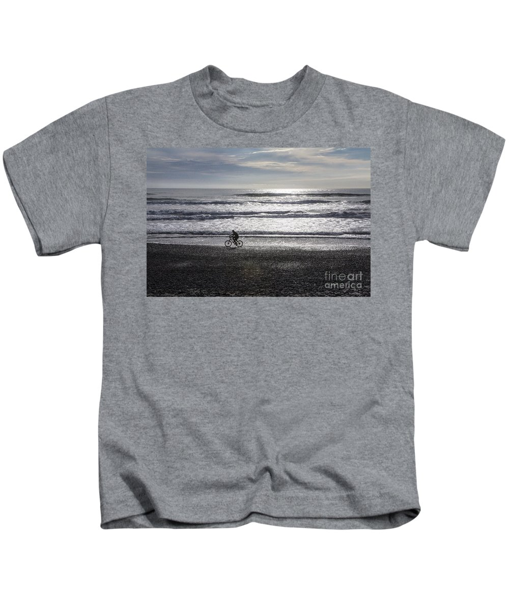 Bicycle Kids T-Shirt featuring the photograph Going home by Sheila Smart Fine Art Photography