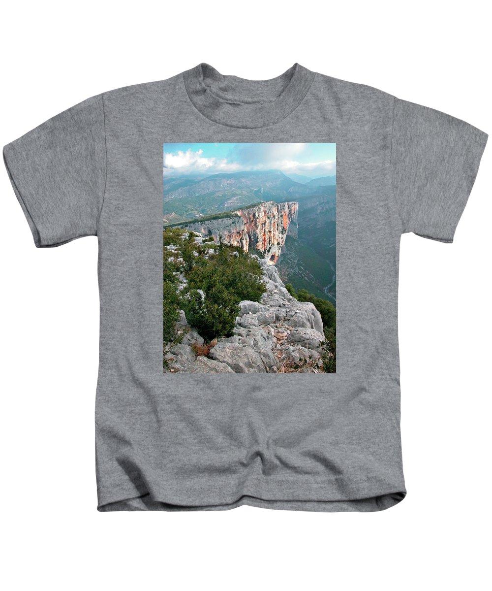 France Kids T-Shirt featuring the photograph Gorges Du Verdun by Alan Toepfer