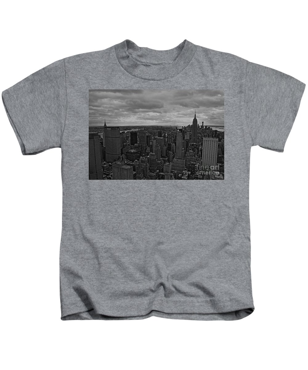 New York City Kids T-Shirt featuring the photograph Gotham by David Rucker