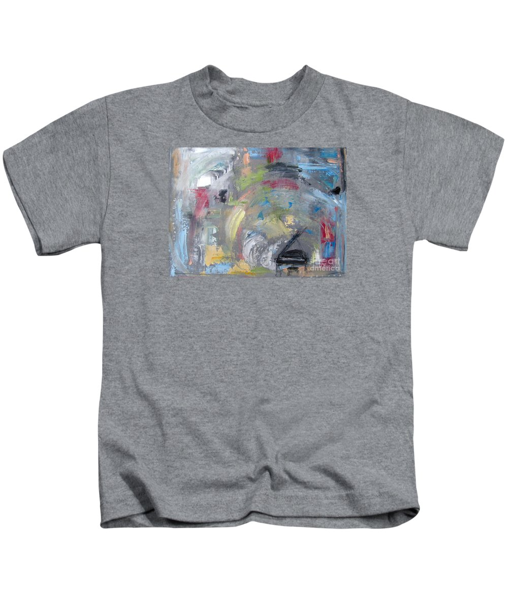 Grand Kids T-Shirt featuring the painting Grande Hoopla by Ann Holder