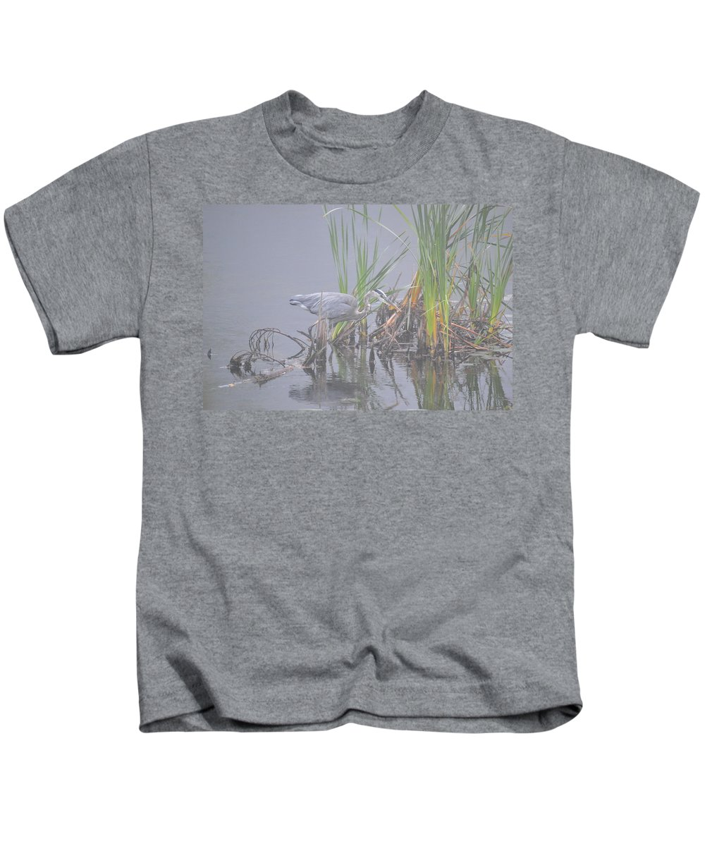 Great Blue Heron Kids T-Shirt featuring the photograph Great Blue Heron 2 by Thomas Phillips