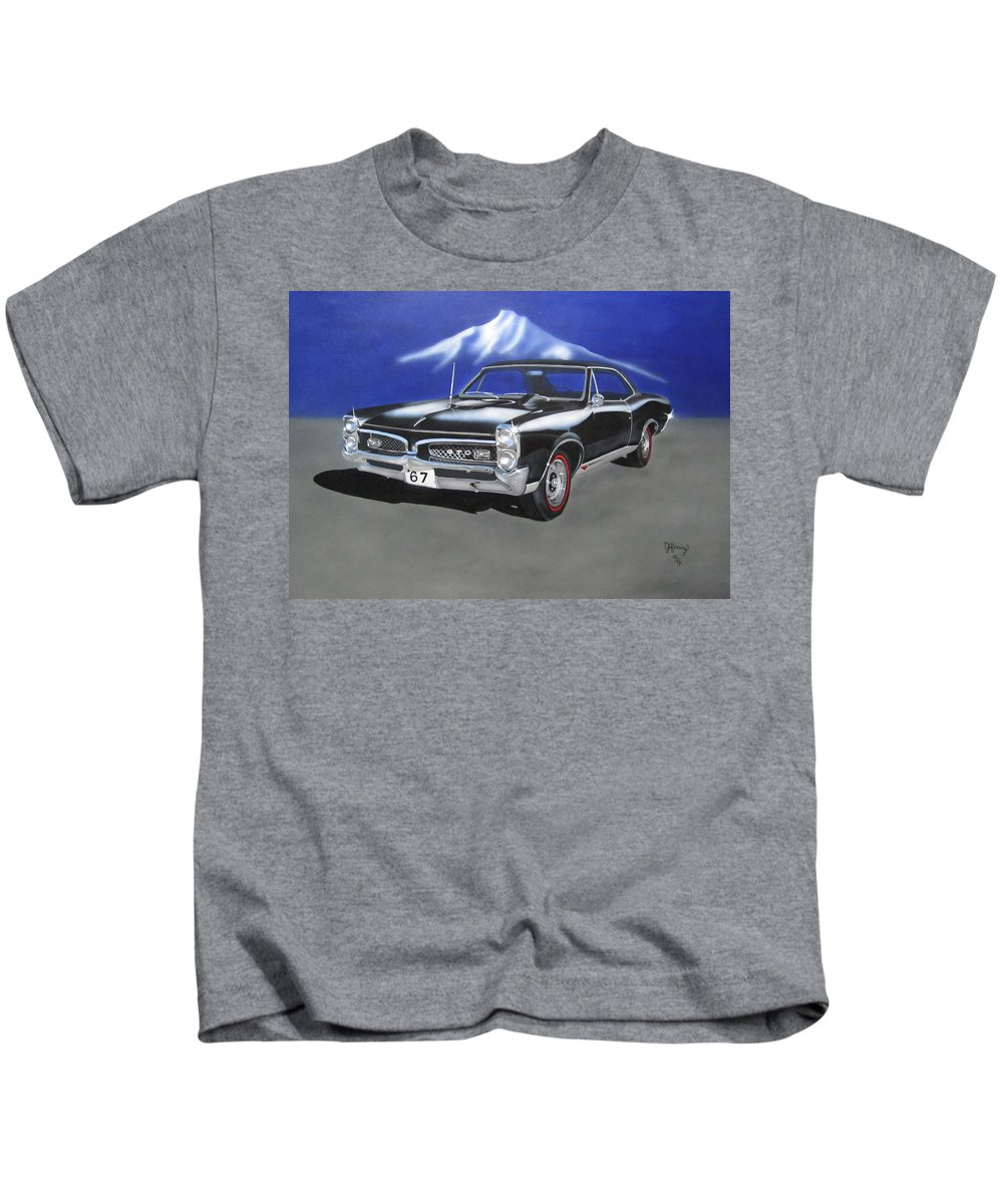 Gto Kids T-Shirt featuring the painting Gto 1967 by Thomas J Herring