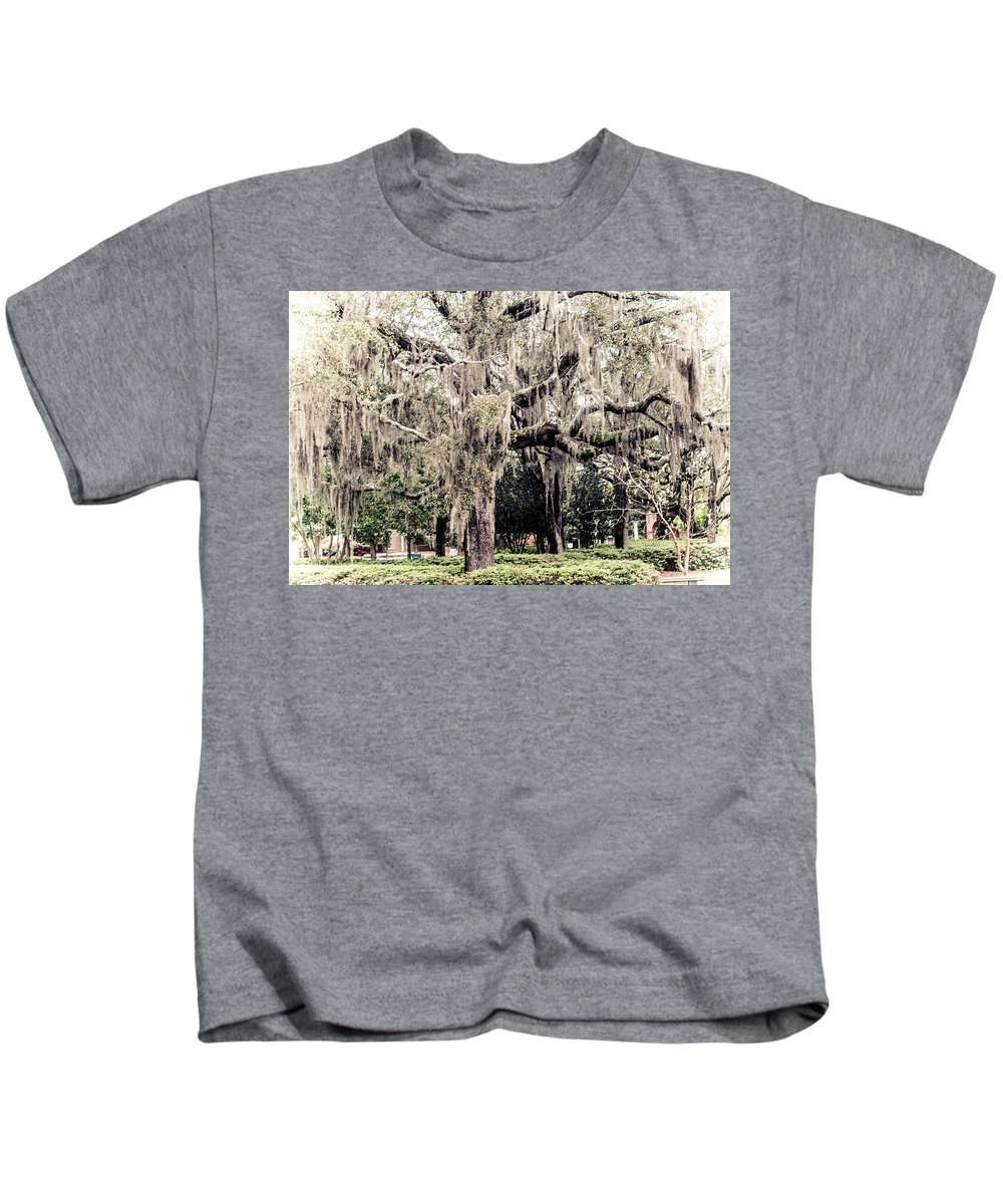 Uwf Kids T-Shirt featuring the photograph Hanging Moss by Jon Cody