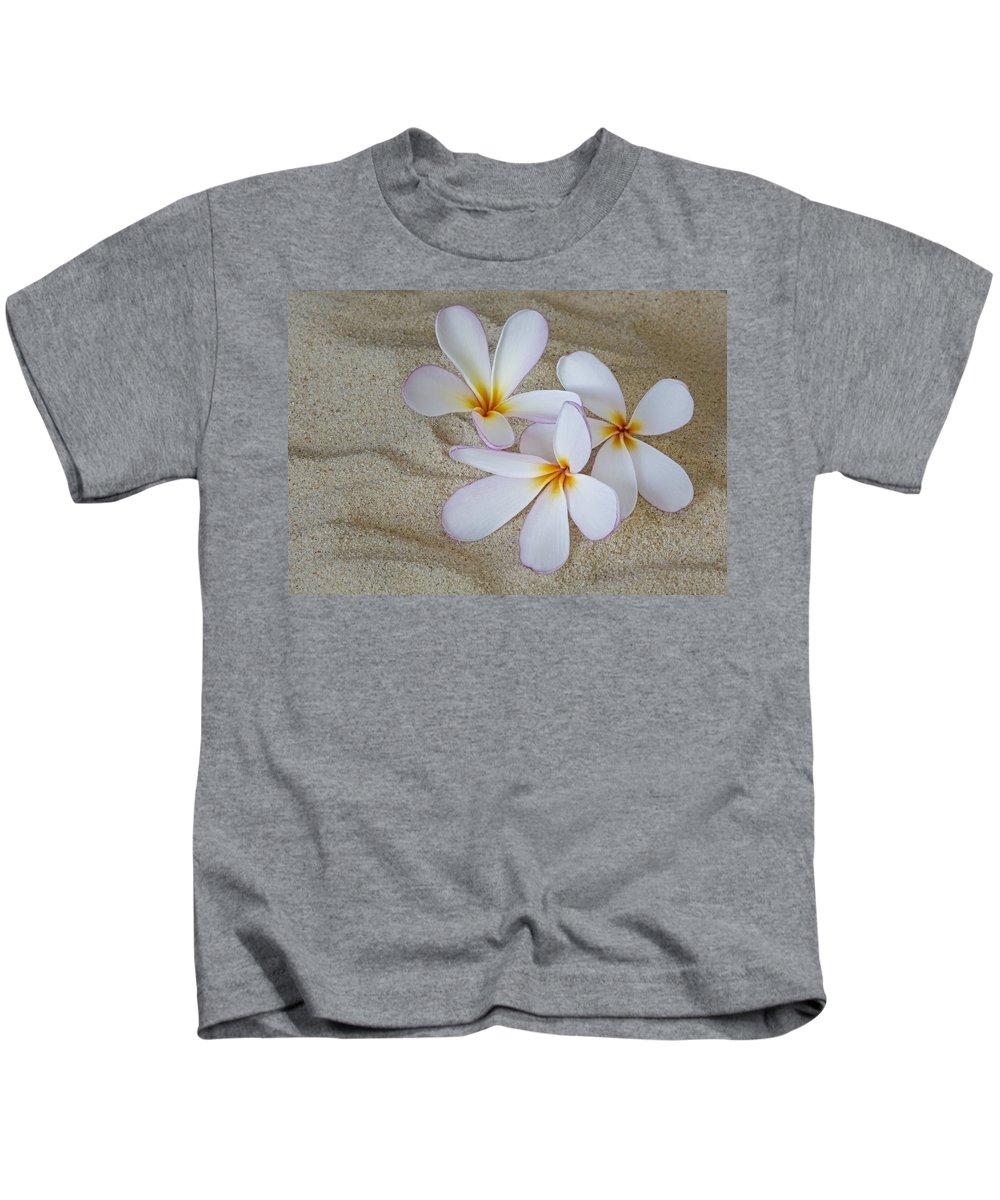 Plumeria Kids T-Shirt featuring the photograph Hawaiian Tropical Plumeria by Susan Candelario