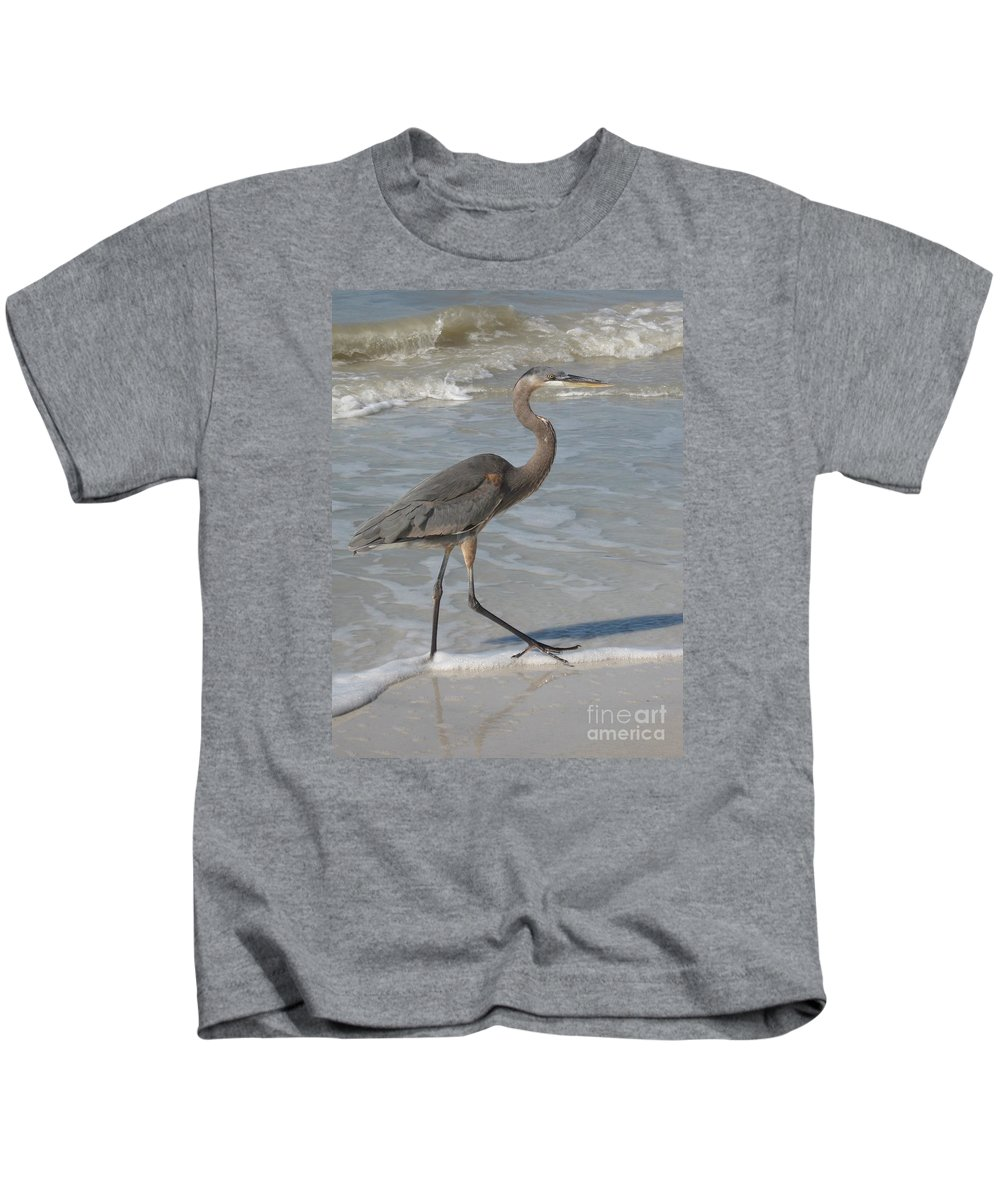 Heron Kids T-Shirt featuring the photograph Head For by Christiane Schulze Art And Photography