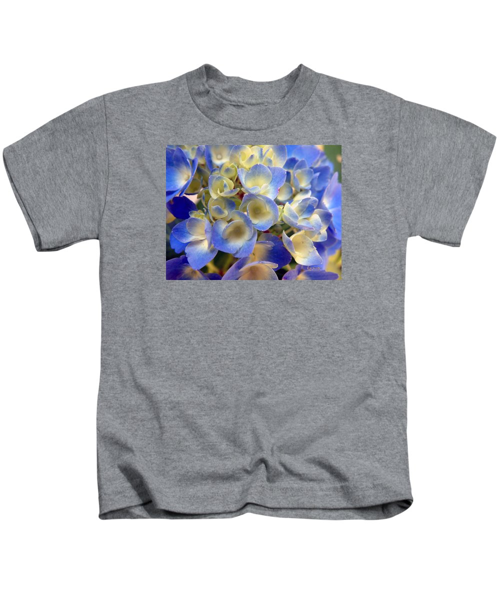 Floral Kids T-Shirt featuring the photograph Heavenly Blues by RC deWinter