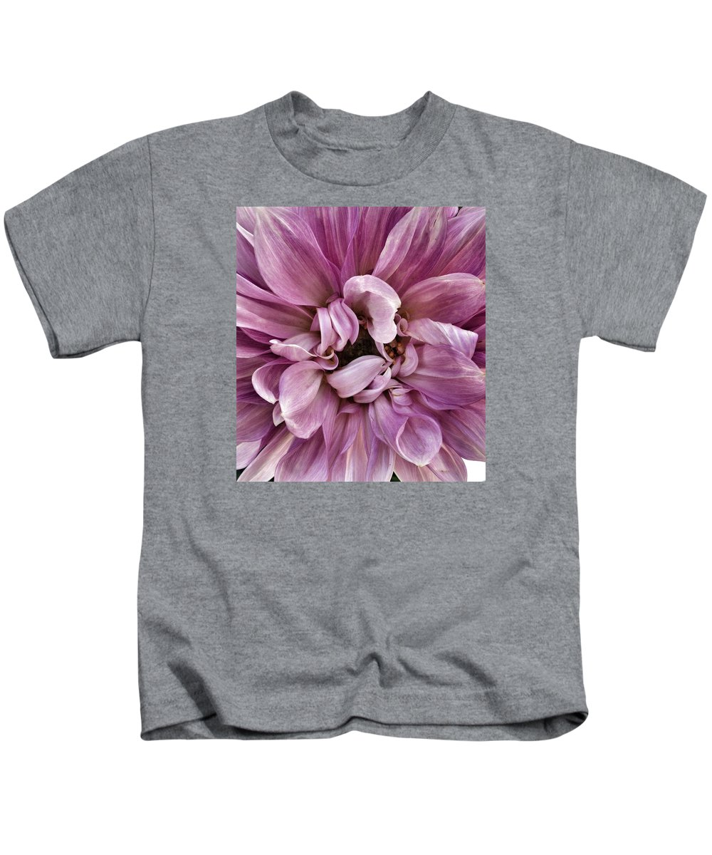 Pink Kids T-Shirt featuring the photograph Hiding by Myda Muckala
