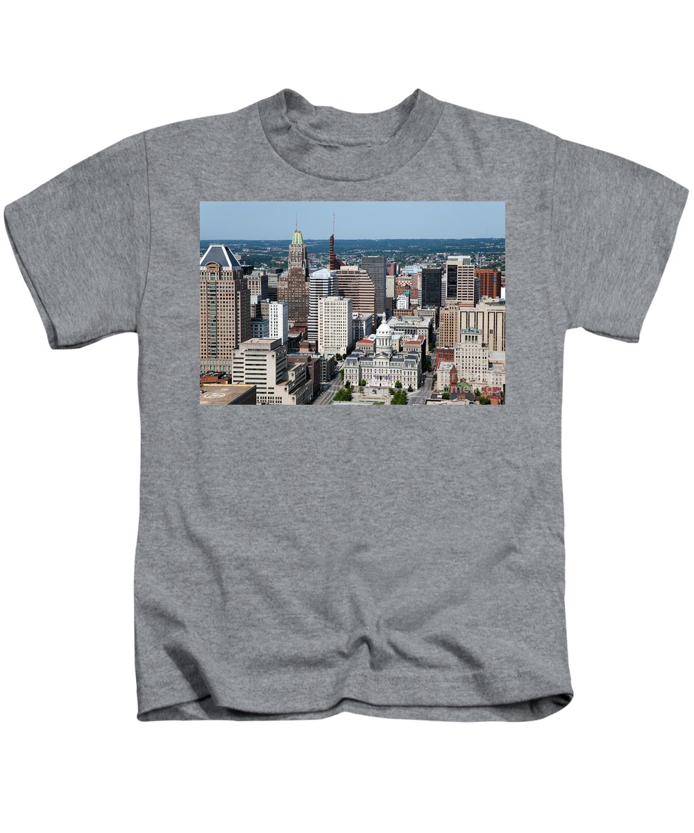 Baltimore Kids T-Shirt featuring the photograph Historic City Centre Baltimore by Bill Cobb