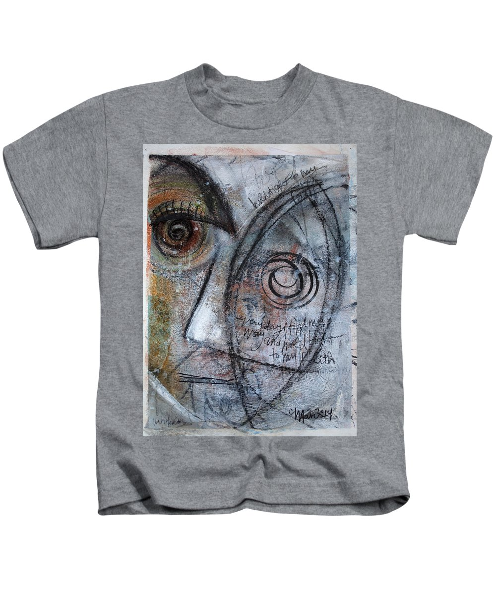 Faith Kids T-Shirt featuring the painting Hold Tight To My Faith by Laurie Maves ART