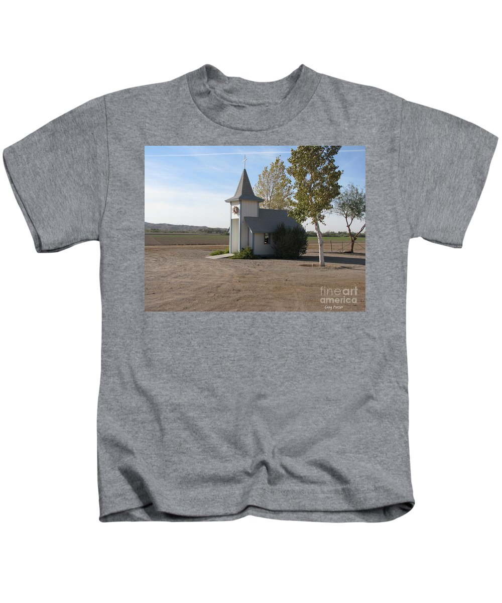 Patzer Kids T-Shirt featuring the photograph House Of The Lord by Greg Patzer
