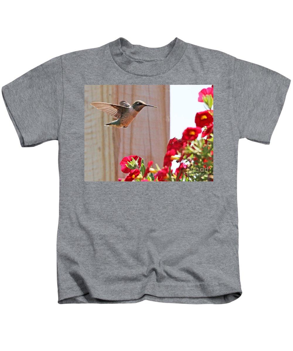 Hummingbird Kids T-Shirt featuring the photograph Hummingbird 4533 by Jack Schultz
