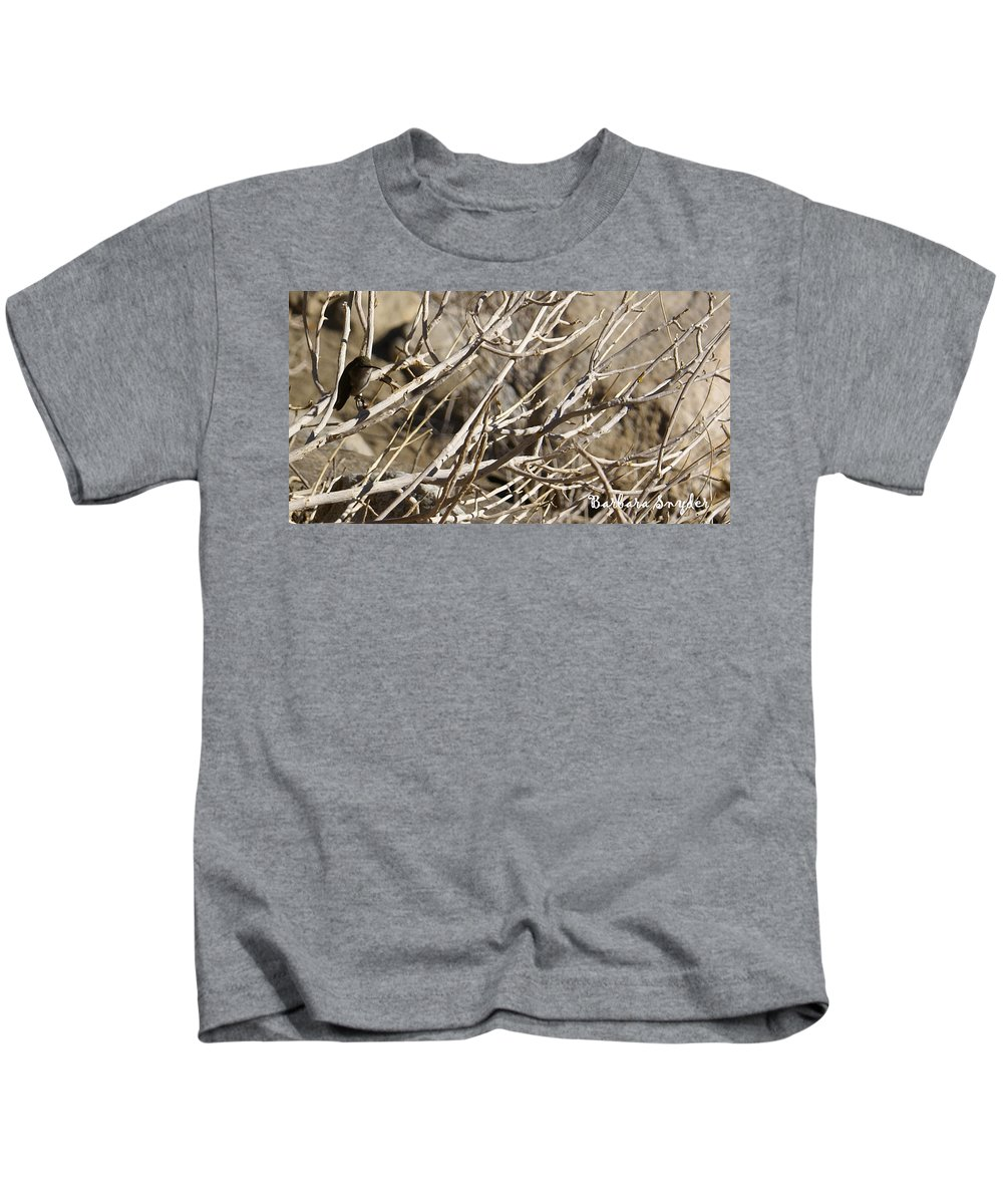 Hummingbird Kids T-Shirt featuring the photograph Hummingbird by Barbara Snyder