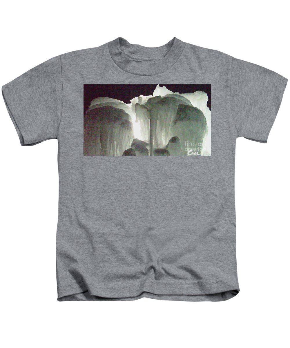 Night Kids T-Shirt featuring the photograph Ice Flow 10 by Feile Case