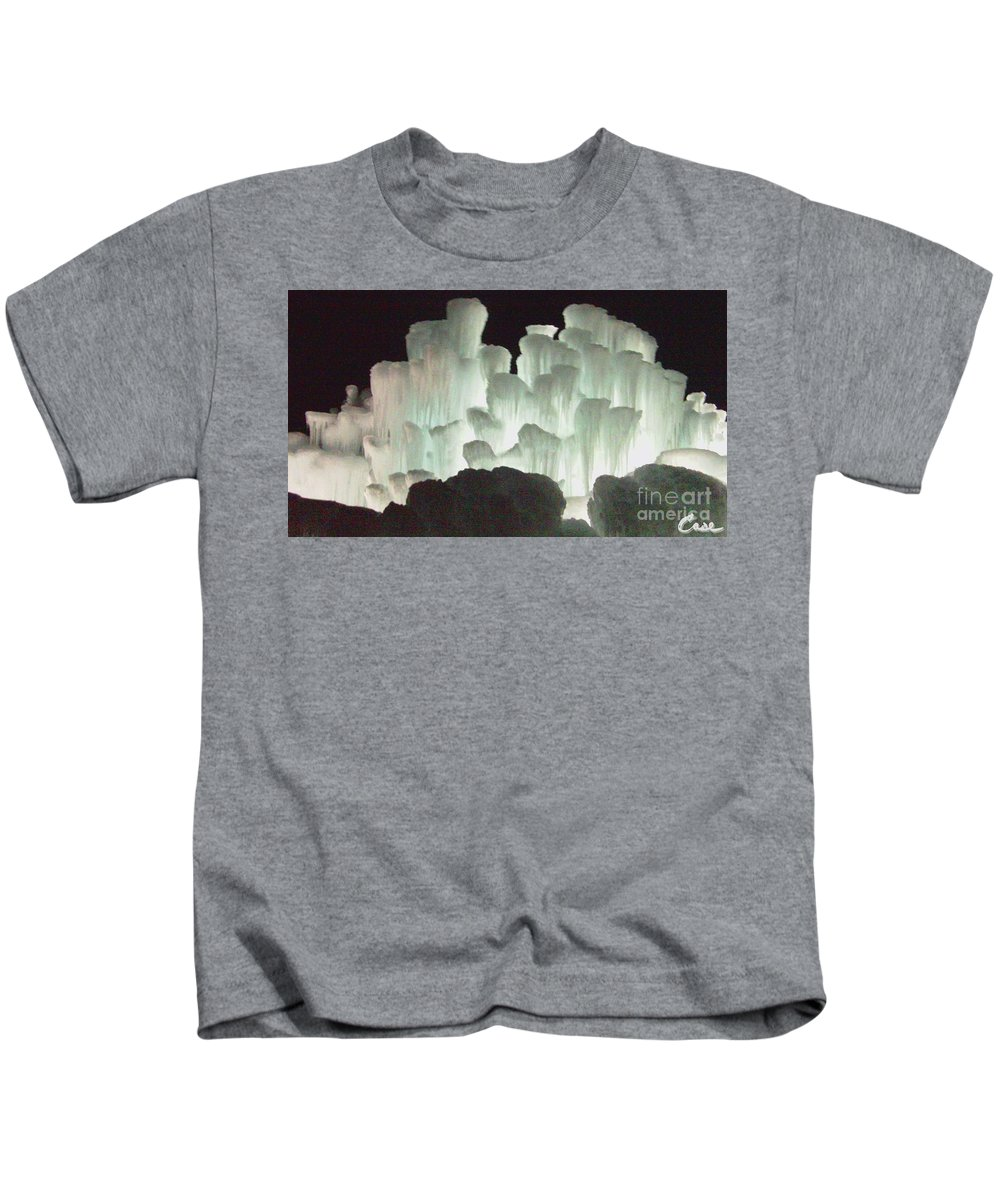 Night Kids T-Shirt featuring the photograph Ice Flow 13 by Feile Case