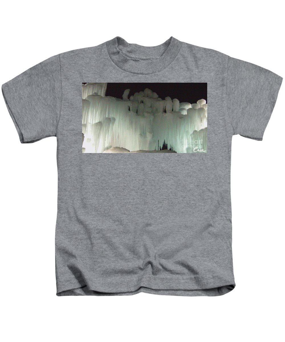 Night Kids T-Shirt featuring the photograph Ice Flow 19 by Feile Case
