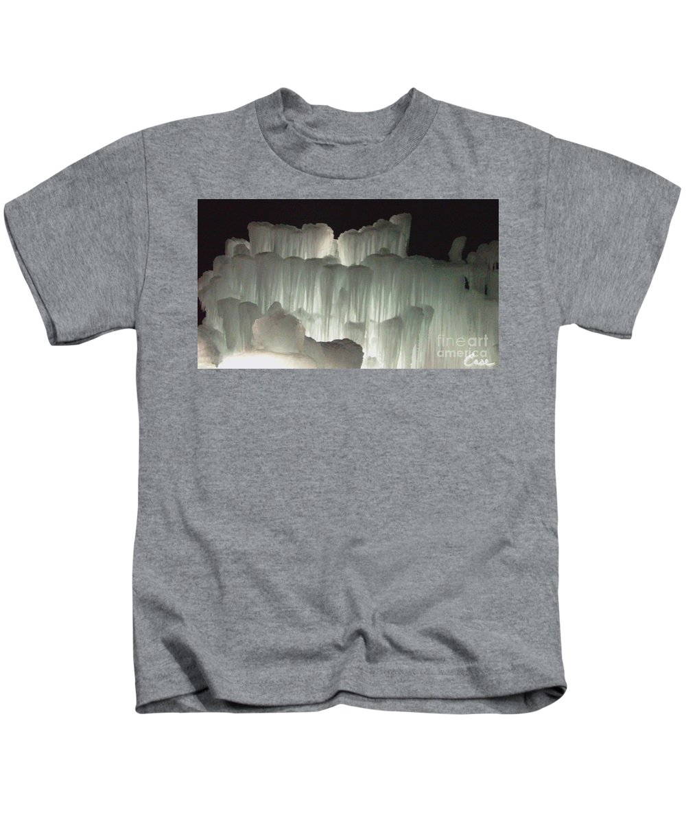 Night Kids T-Shirt featuring the photograph Ice Flow 20 by Feile Case