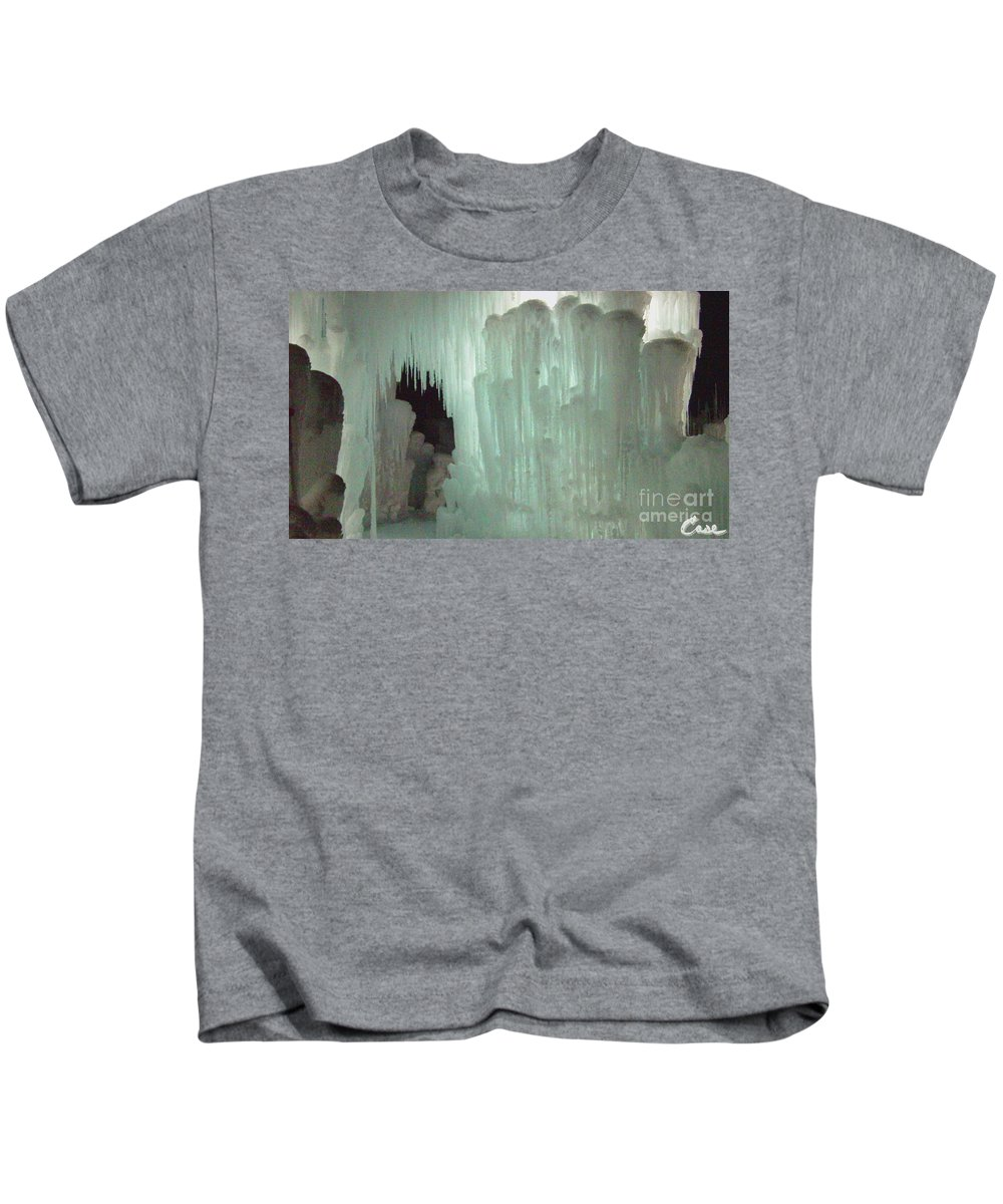 Night Kids T-Shirt featuring the photograph Ice Flow 21 by Feile Case