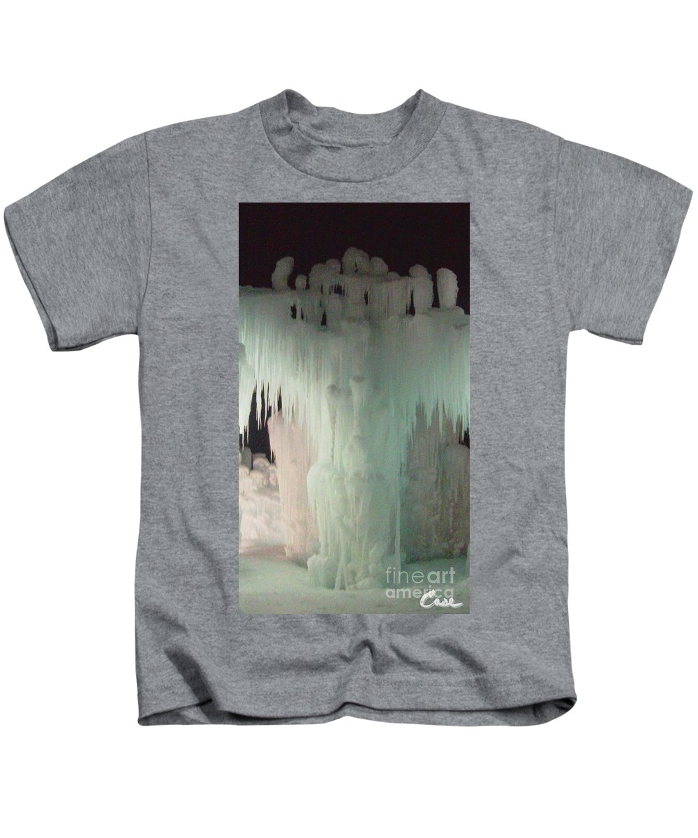 Night Kids T-Shirt featuring the photograph Ice Flow 23 by Feile Case