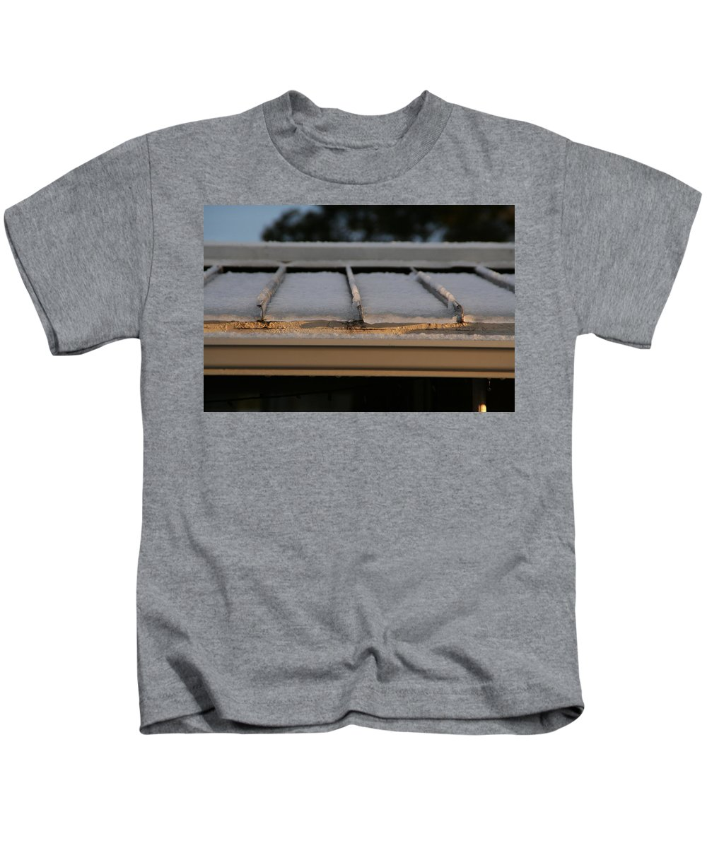 Roof Kids T-Shirt featuring the photograph Ice Roof by David S Reynolds