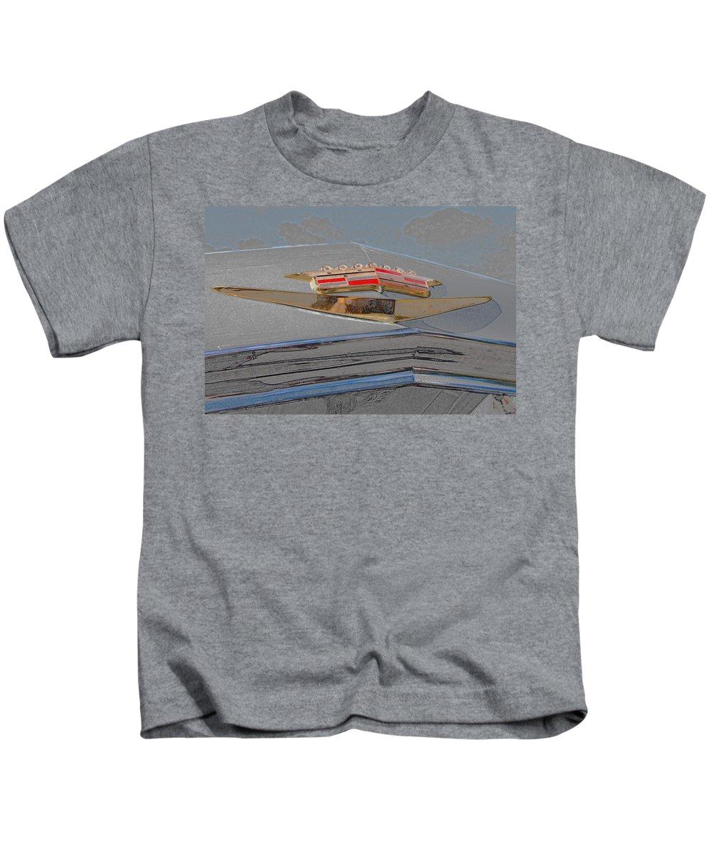 Automotive Details Kids T-Shirt featuring the photograph Iconic Emblem by John Schneider