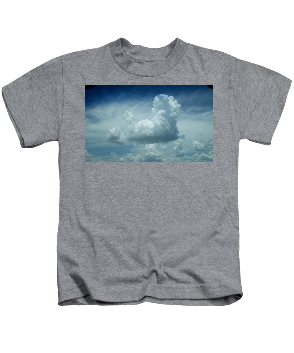 Clouds Kids T-Shirt featuring the photograph Image In The Sky by Marie Brantley