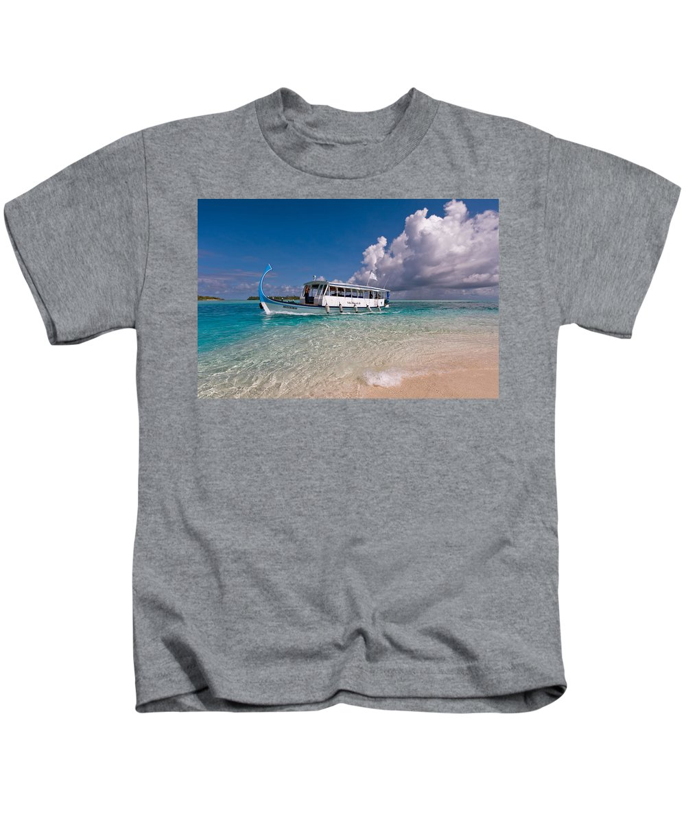 Maldives Kids T-Shirt featuring the photograph In Harmony With Nature. Maldives by Jenny Rainbow